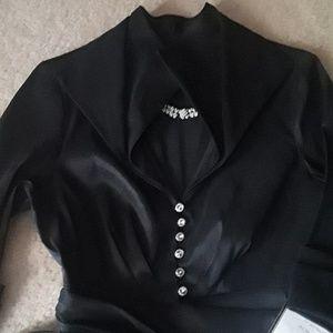 Donna Ricco Dresses - Donna Ricco Rhinestone  Black Dress Sz 12P